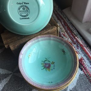 Lowestoft Adams ironstone cereal bowl set of 4